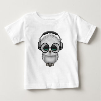 Customizable Dj Owl with Headphones and Glasses Baby T-Shirt