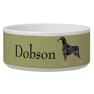 Customizable Doberman Pinscher Dog Bowl