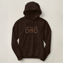 Customizable Dog Breed  Dad with Paw Embroidered Hoodie