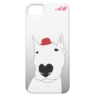 Customizable: Dog in a red bowler hat iPhone 5 Cases