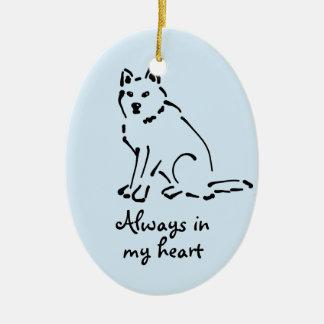 Customizable Dog Memorial Ornament