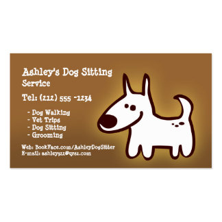 CUSTOMIZABLE dog sitting, grooming, walking Double-Sided Standard Business Cards (Pack Of 100)