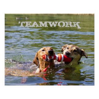 Customizable Dog Teamwork Poster