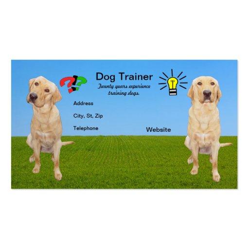 Customizable dog trainer business card zazzle for Dog trainer business card