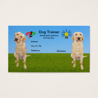 Customizable Dog Trainer Business Card