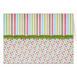 Customizable Dots and Stripes Cards and Postage