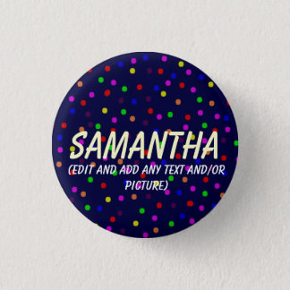 Customizable Dots Birthday Button for Toddler