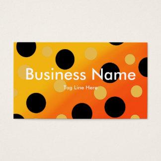 Customizable Dots On Blended OrangeToYellow Business Card