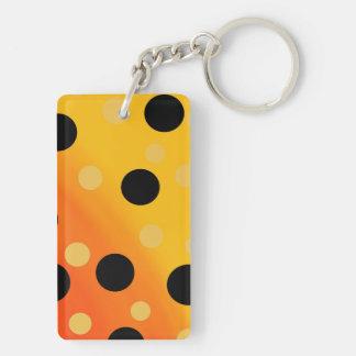 Customizable Dots On Blended OrangeToYellow Keychain