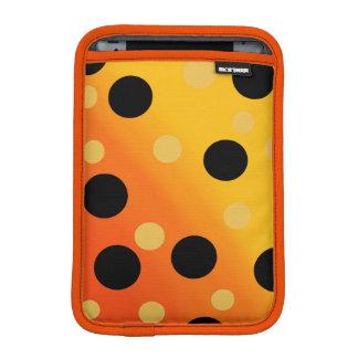 Customizable Dots On Blended OrangeToYellow Sleeve For iPad Mini