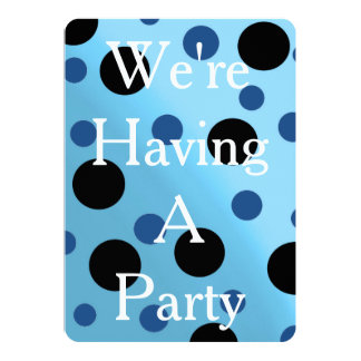 Customizable Dots On Blended SkyBlue Card