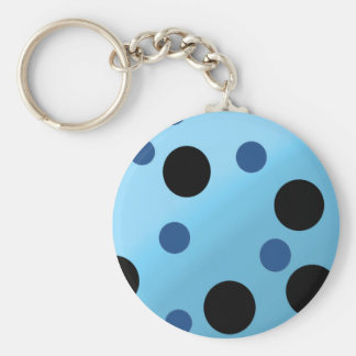 Customizable Dots On Blended SkyBlue Keychain