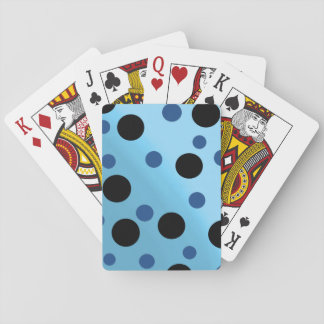 Customizable Dots On Blended SkyBlue Playing Cards