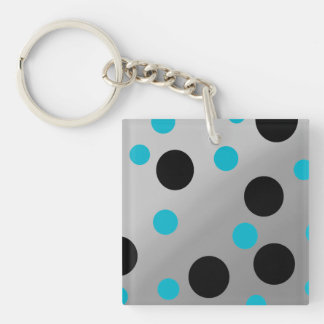 Customizable Dots On Blending Double-Sided Square Acrylic Keychain