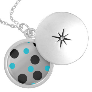 Customizable Dots On Blending Round Locket Necklace