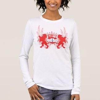 Customizable Double Lions 3 Yellow Stars Prtct Fam Long Sleeve T-Shirt