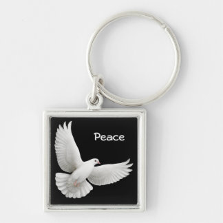 Customizable Dove Keychain