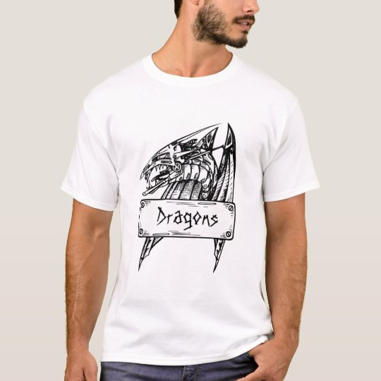 Customizable Dragon Banner T-Shirt 4