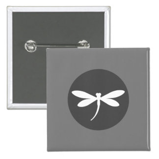 Customizable Dragonfly Color with Gray BG Design 2 Inch Square Button