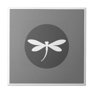 Customizable Dragonfly Color with Gray BG Design Tile