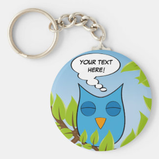 Customizable dreaming owl - multiple colors key chain