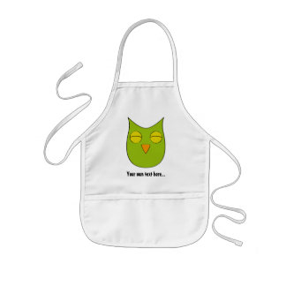 Customizable dreaming owl - multiple colors kids' apron