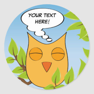Customizable dreaming owl - multiple colors stickers