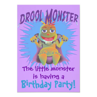 Customizable Drool Monster Birthday Invitations