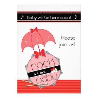 Customizable Drummer Baby Shower invitation - Red