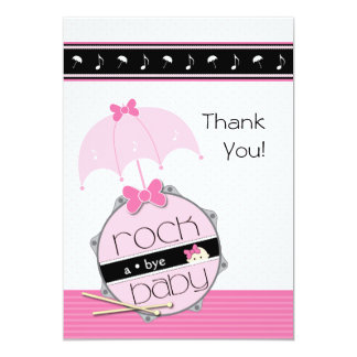 Customizable Drummer Baby Shower Thank You Card