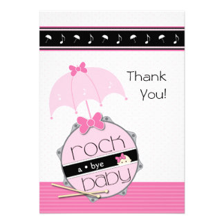 Customizable Drummer Baby Shower Thank You Personalized Invitations