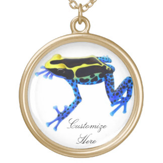 Customizable Dyeing Poison Frog Necklace