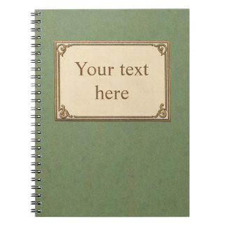 Customizable Early 1900s Notebook