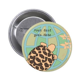 Customizable Earth Day Tortoise Button