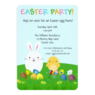 Customizable Easter card invitation