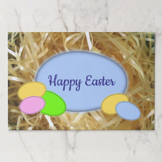 Customizable Easter Eggs Large Tearaway Placemat