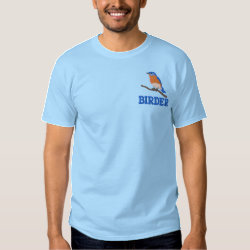 Customizable Eastern Bluebird Embroidered T-Shirt