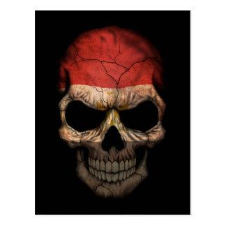 Customizable Egyptian Flag Skull Postcard