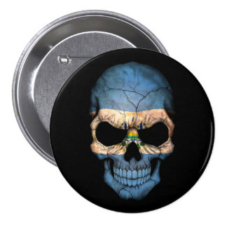 Customizable El Salvador Flag Skull Pin