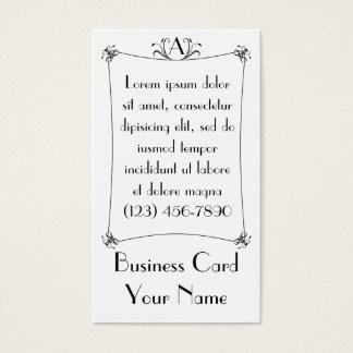 Customizable Elegant Border With Monogram Business Card