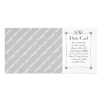 Customizable Elegant Border With Monogram Card
