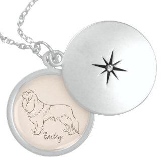 Customizable Elegant Cavalier King Charles Spaniel Locket Necklace
