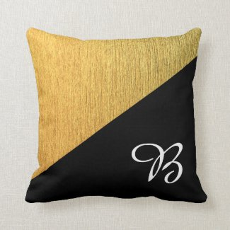 Customizable elegant diagonal golden black design