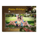 Customizable Elegant Holiday Photo Postcard