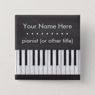 Customizable, Elegant, Modern Chalkboard Keyboard Pinback Button