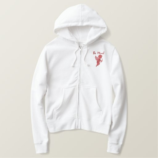 Customizable Emb. Cupid with Bow and Arrow Embroidered Hoodie