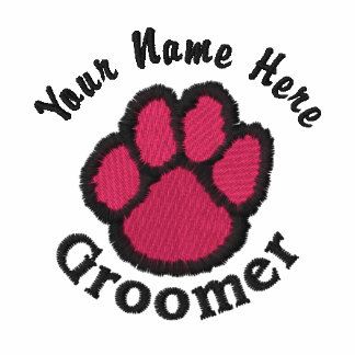 Customizable Embroidered Dog Groomer Tees Sweats