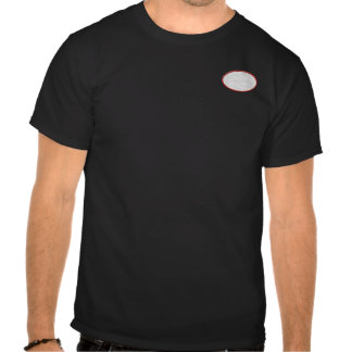 Customizable embroidered oval patch front & back  t shirts
