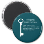 Customizable Emergency Contact Numbers Magnet
