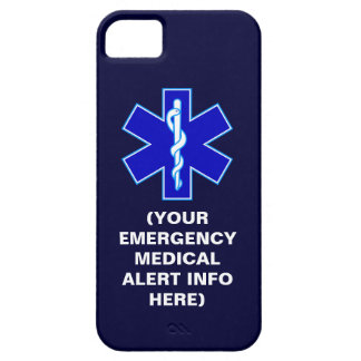 Customizable Emergency Medical Alert iPhone Cases iPhone 5 Cases